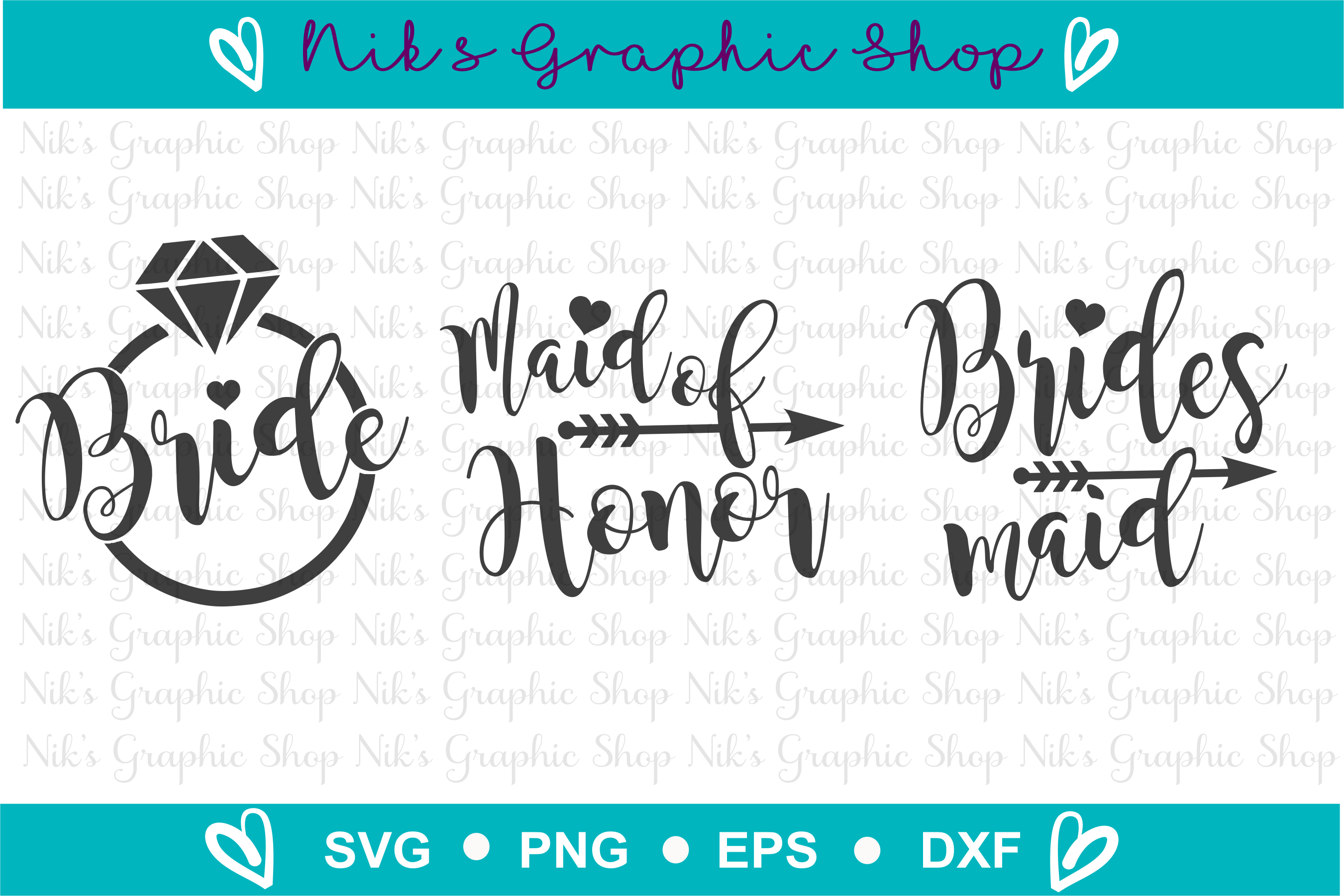 Bride Svg, Bridal Party Svg, Bride Squad Svg, Bride Shirt example image 2