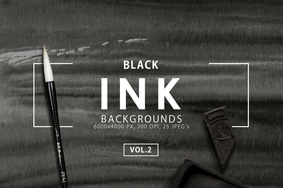 Black Ink Backgrounds Vol.2 example image 1