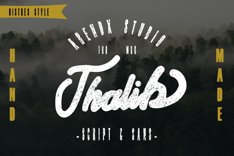 Thalib - Font Duo example image 2