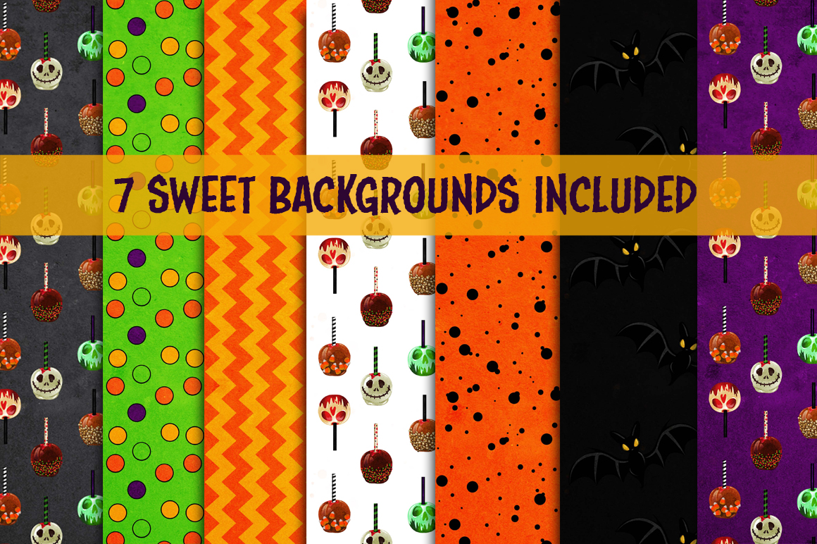 Halloween Sweets & Treats Clipart example image 3