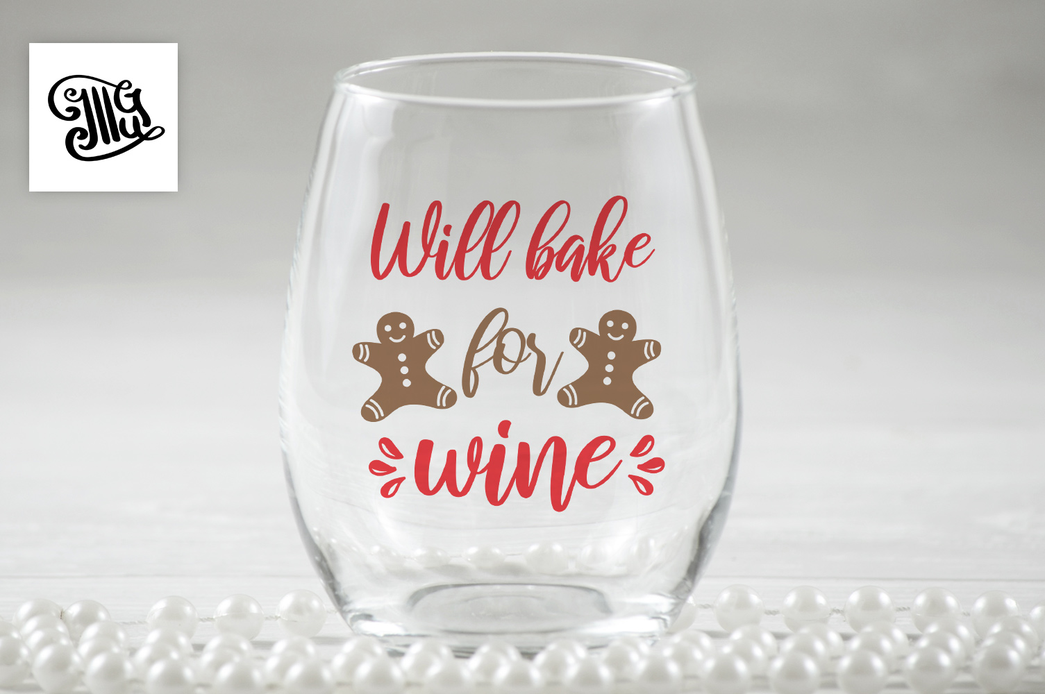 Will bake for wine - Christmas wine example image 1