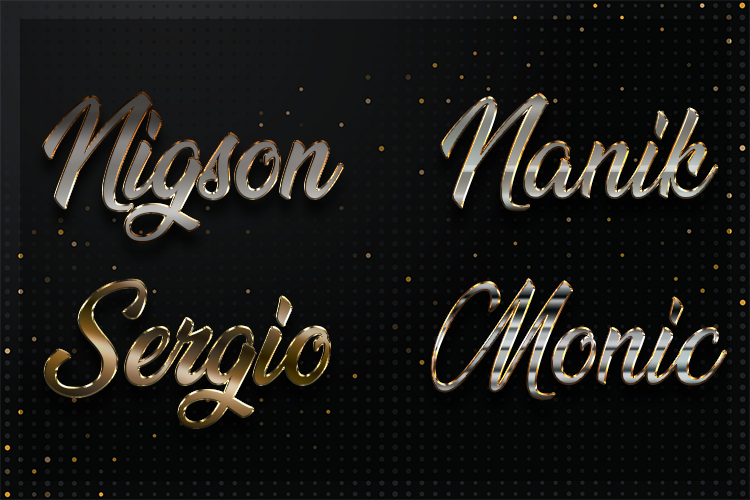 12 Silver Chrome Text Effect Styles example image 2