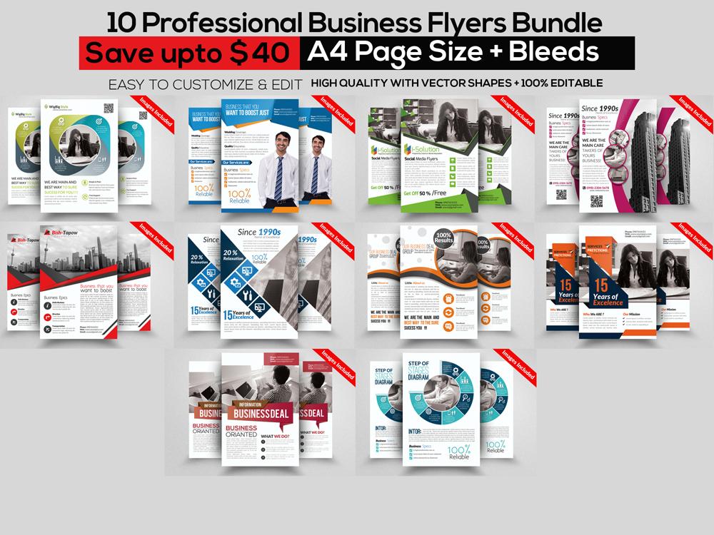 10 Professional Multi Use Business Flyer Bundle example image 1