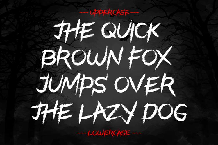 Black Halloween - Spooky Font example image 6