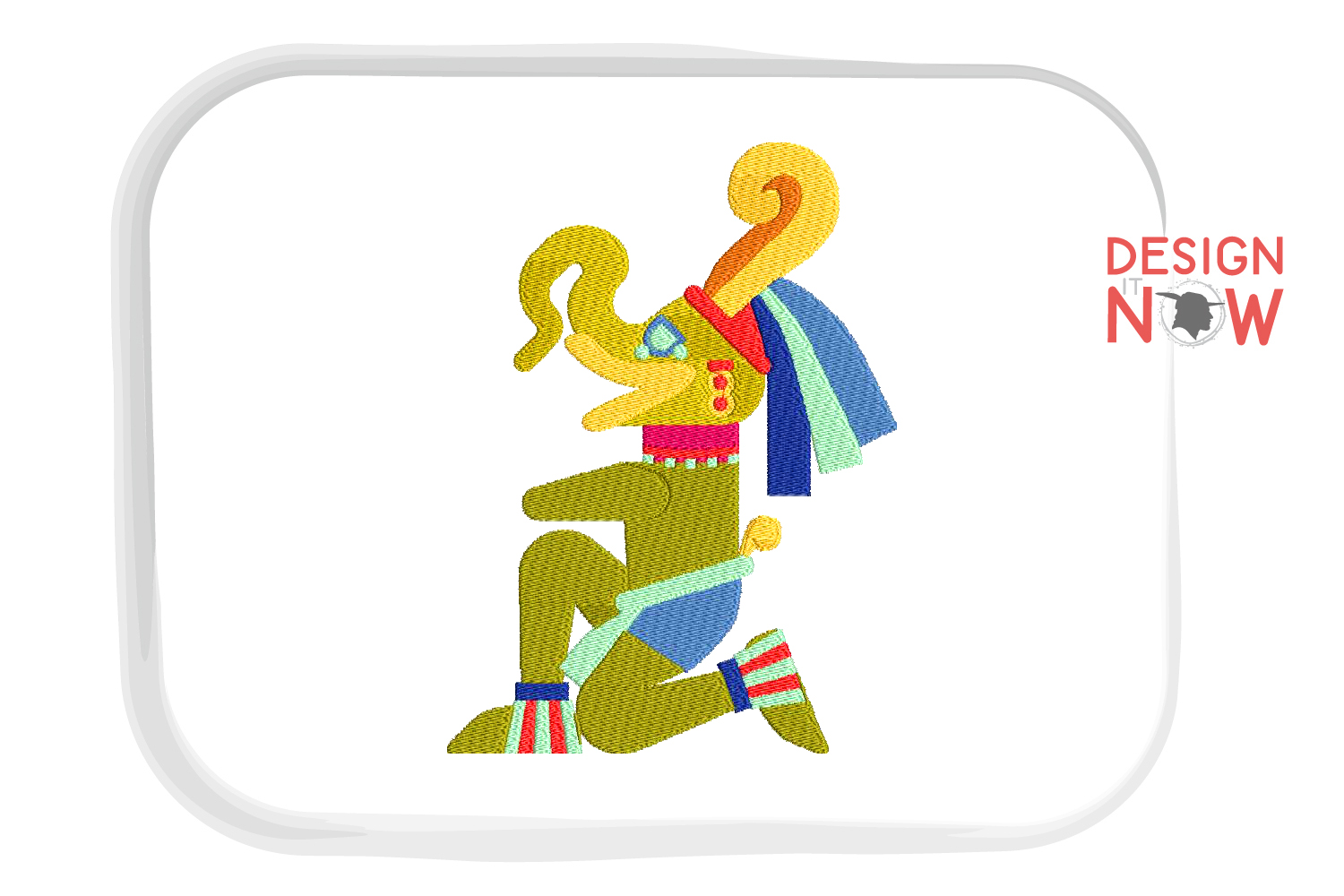 Aztec Culture Embroidery, Mayan Embroidery, God example image 2
