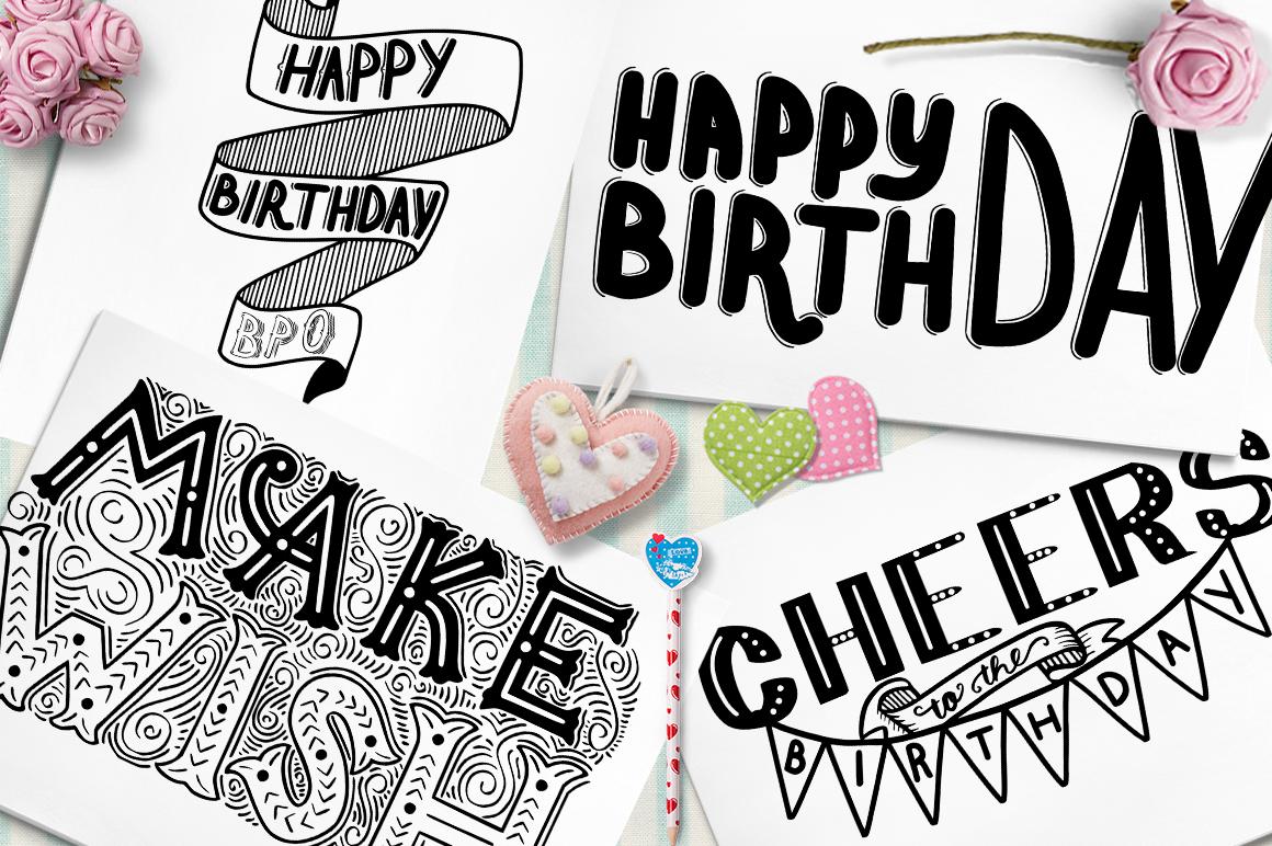 Happy BIRTHDAY   Lettering example image 1