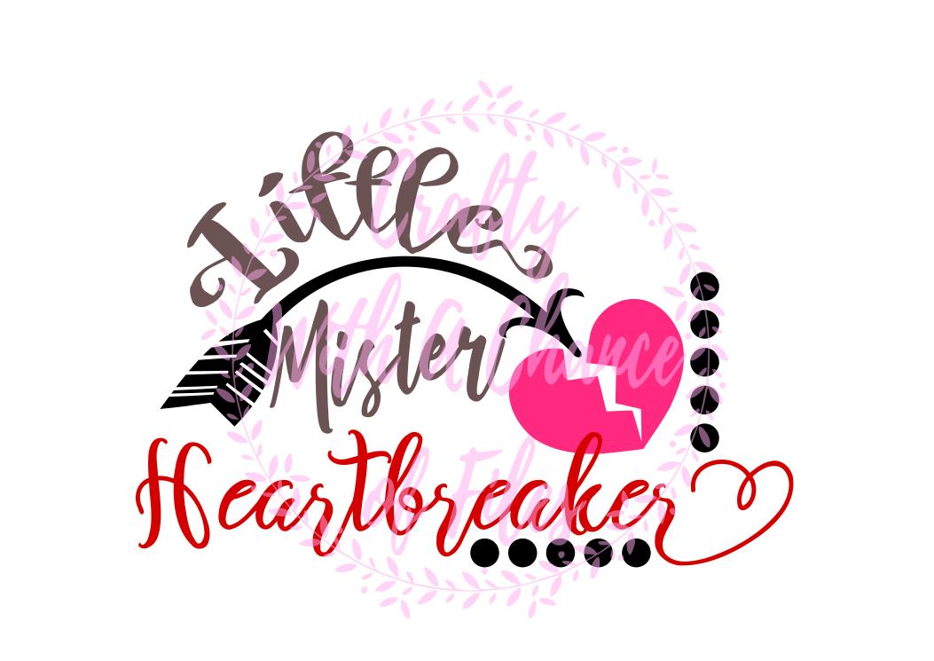 Little Mister Heartbreaker SVG - Valentine's Day Design example image 1