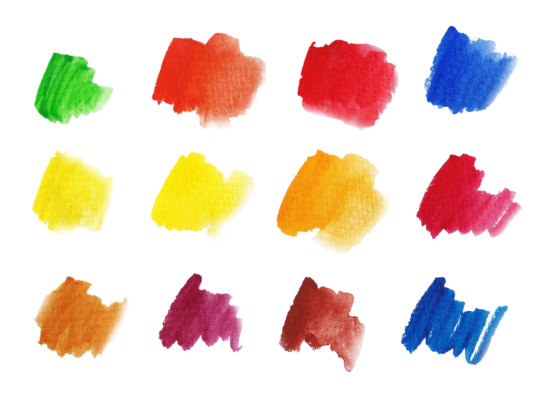 Basic Watercolor Shapes example image 2
