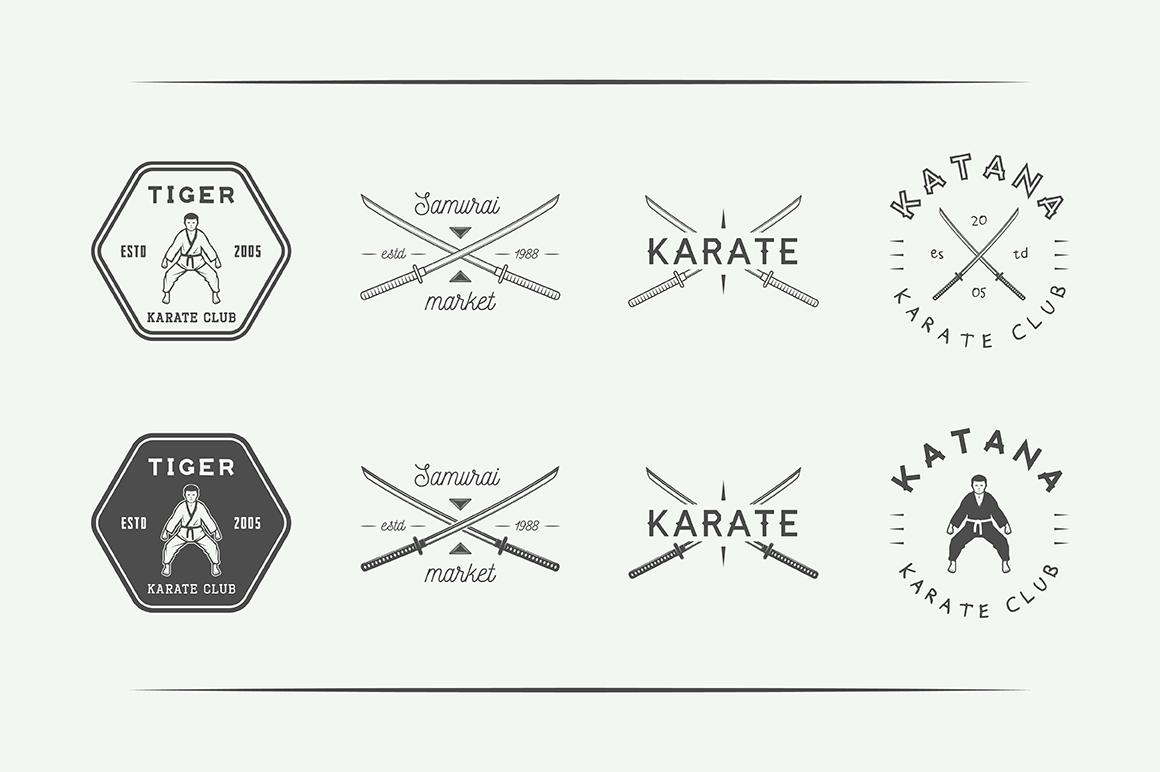 Vintage Karate Emblems Bundle example image 11
