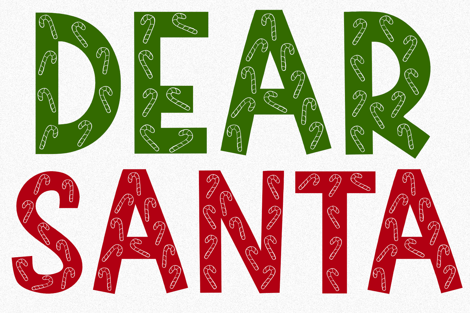 Peppermint | A Holiday Font With Candy Canes in Letters example image 3