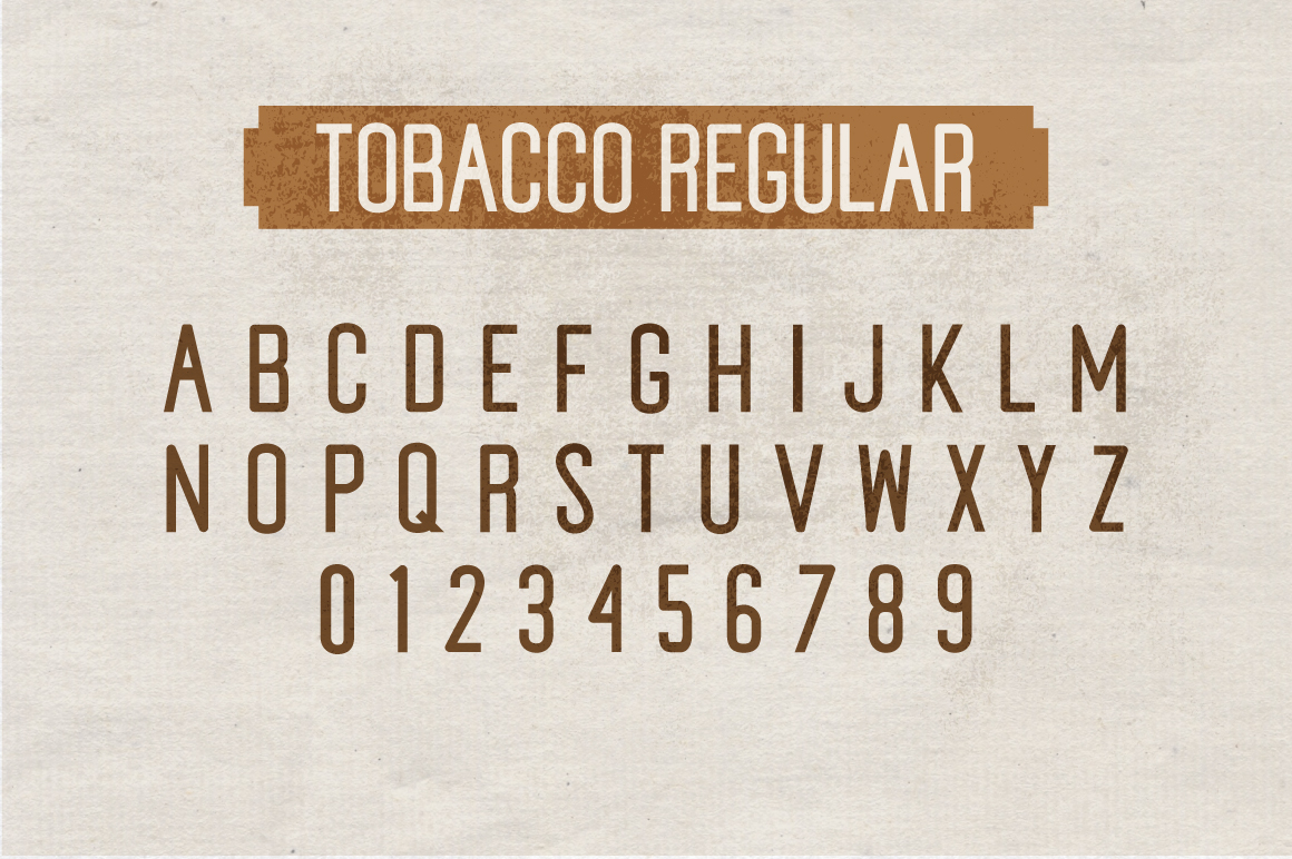 Tobacco Typeface example image 8