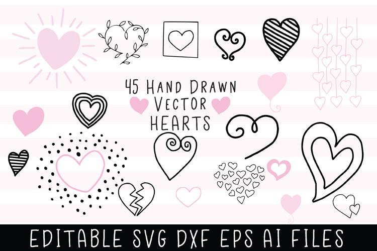 45 Hand Drawn Vector Hearts example image 1