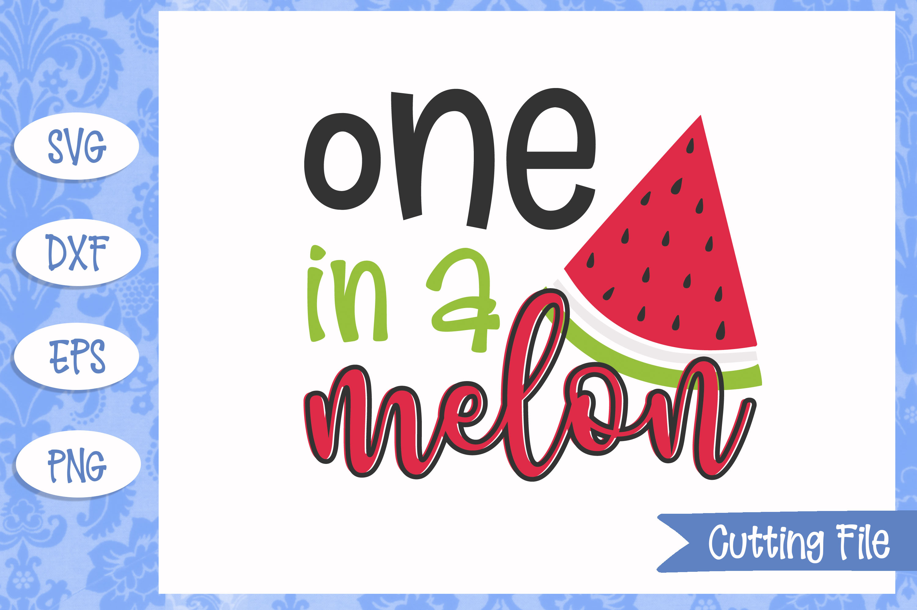 One in a melon, summer SVG File example image 1
