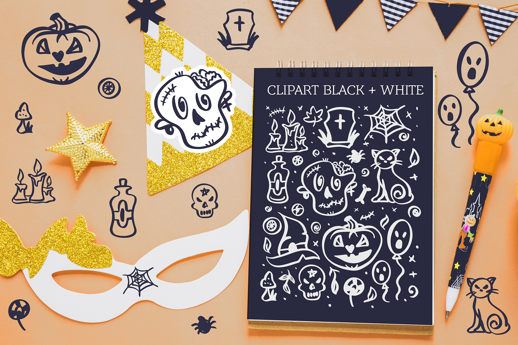 Halloween lettering set example image 6