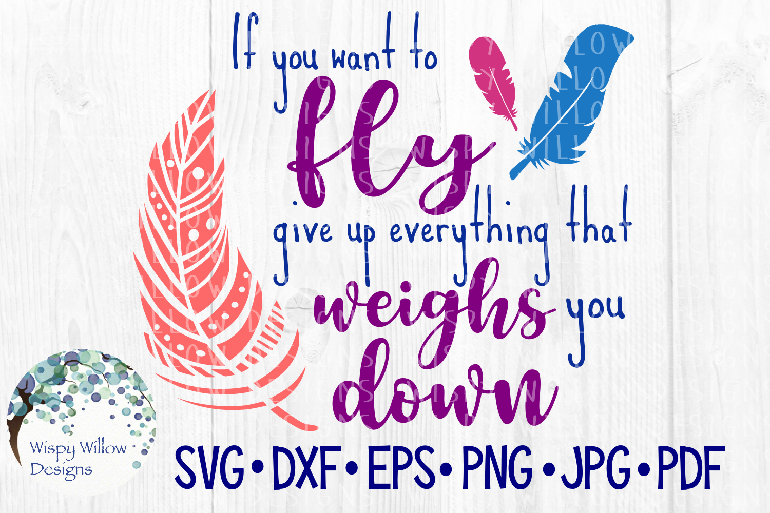 If You Want to Fly Give Up Everything That Weighs You Down example image 2