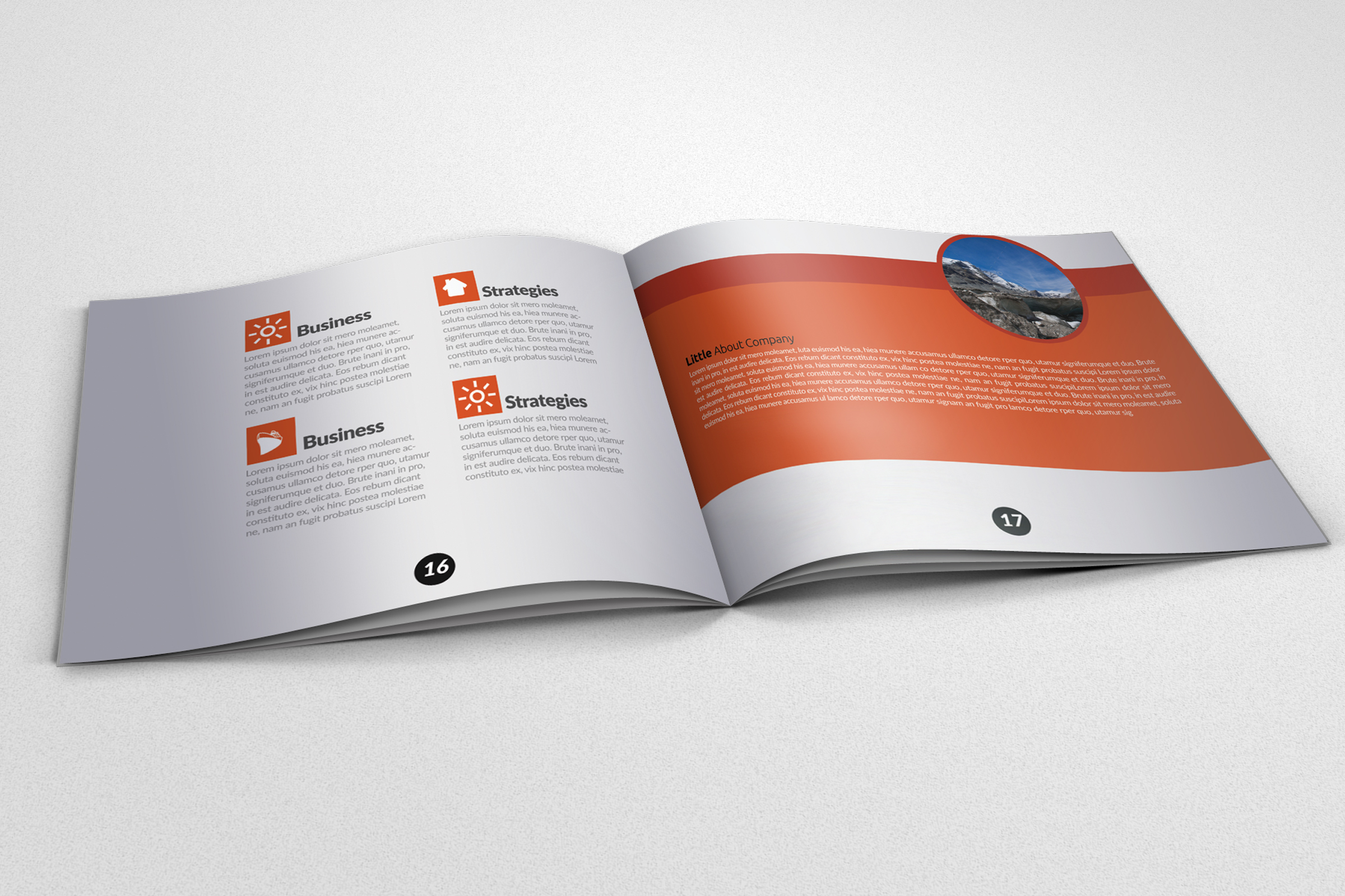 20 Pages Catalogue Business Bifold Brochure example image 9