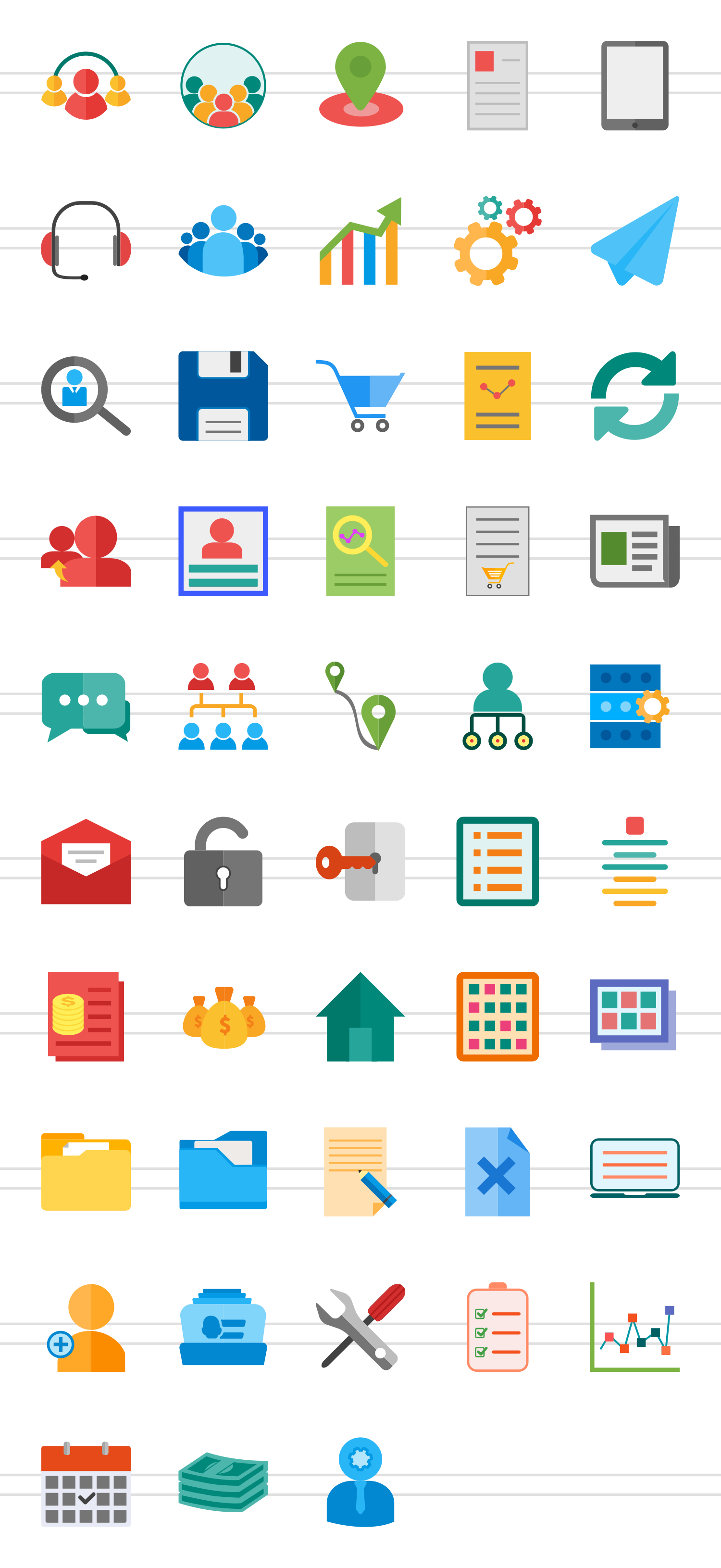 48 Admin Dashboard Flat Multicolor Icons example image 2