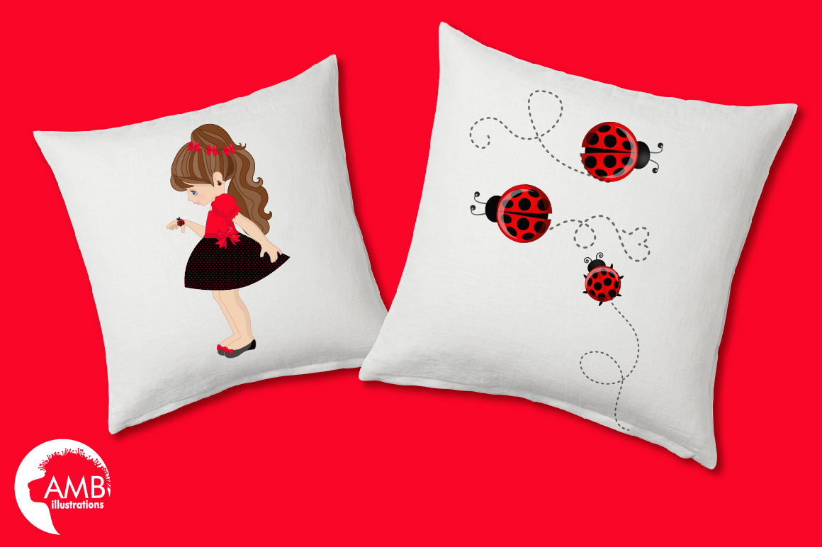 Sweet little ladies graphics, clipart, illustrations AMB-1056 example image 3