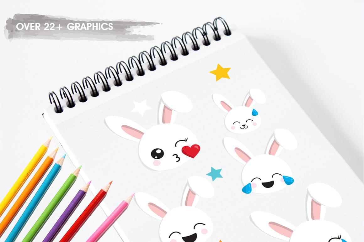 Rabbit Emoji graphic and illustrations example image 3