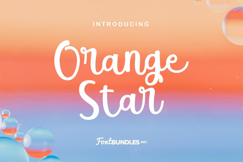 Orange Star example image 1