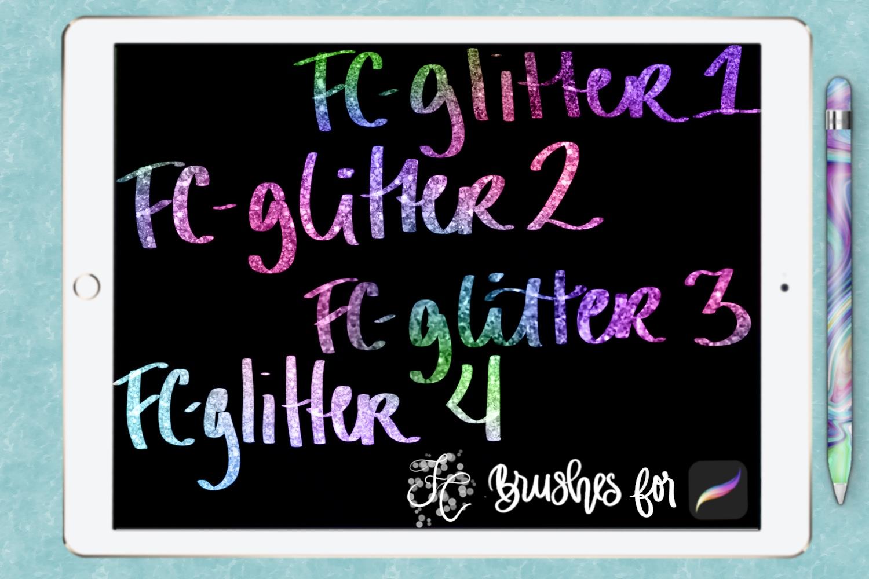 FC-glitter set 1 brushes for PROCREATE example image 4
