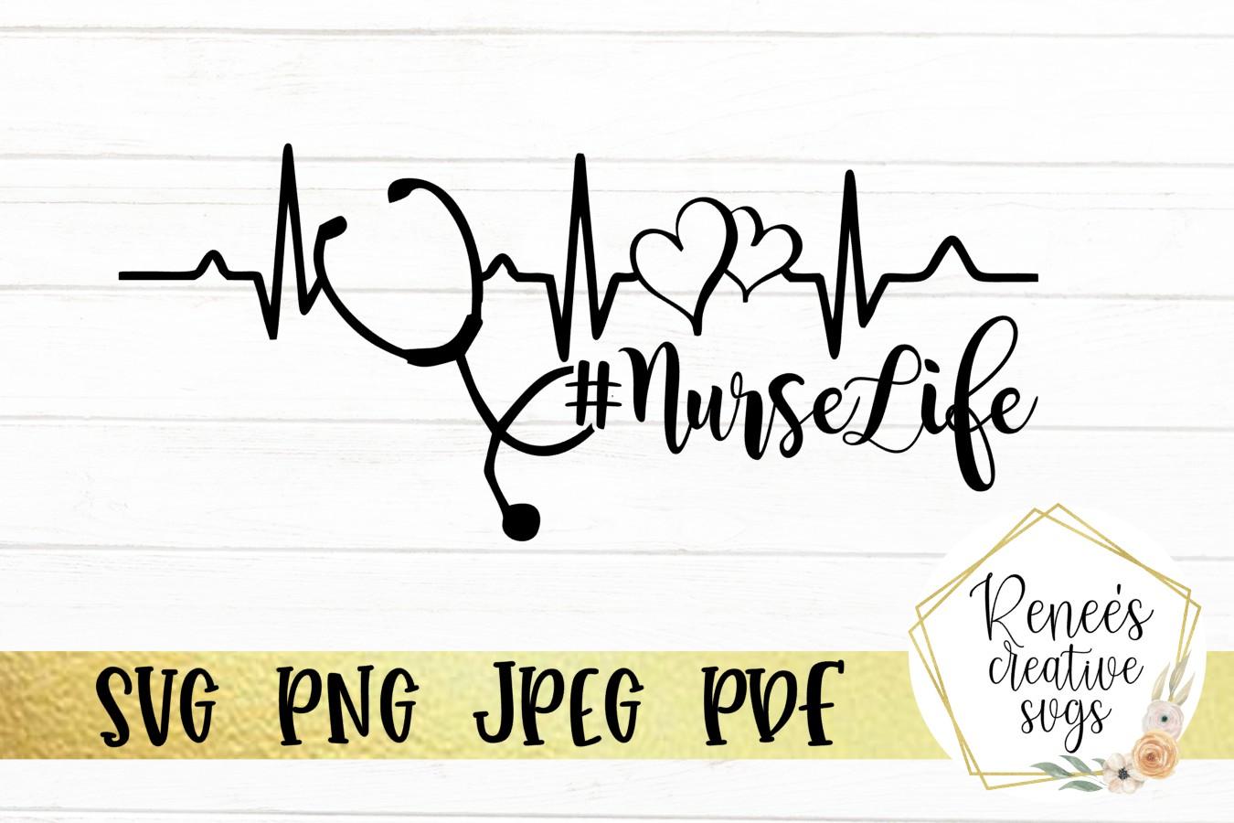 NurseLife | Nurse | SVG Cutting File example image 2