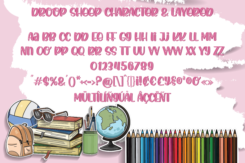 Droop Sheep - Crafty Font Layered example image 4
