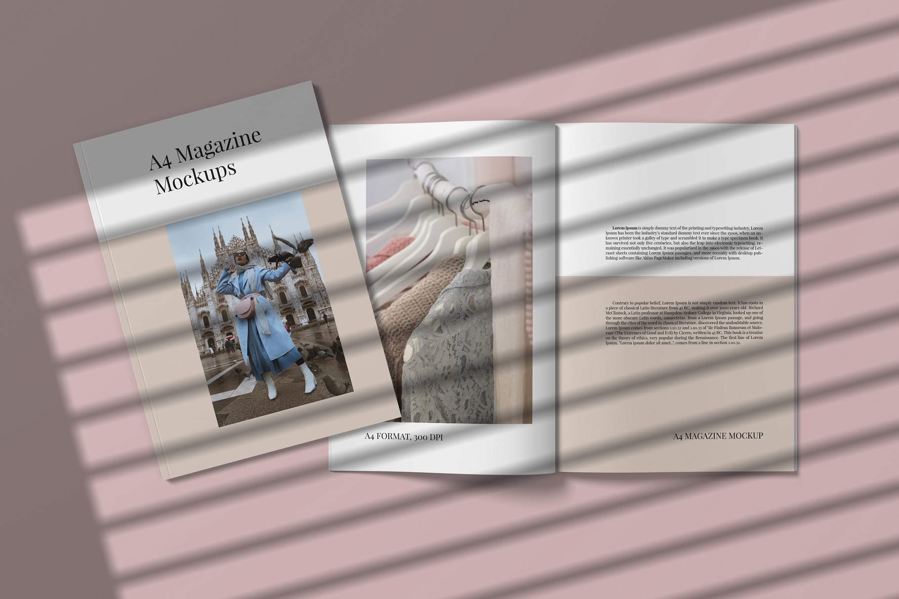 A4 and US Letter Magazines Mock-Ups example image 10