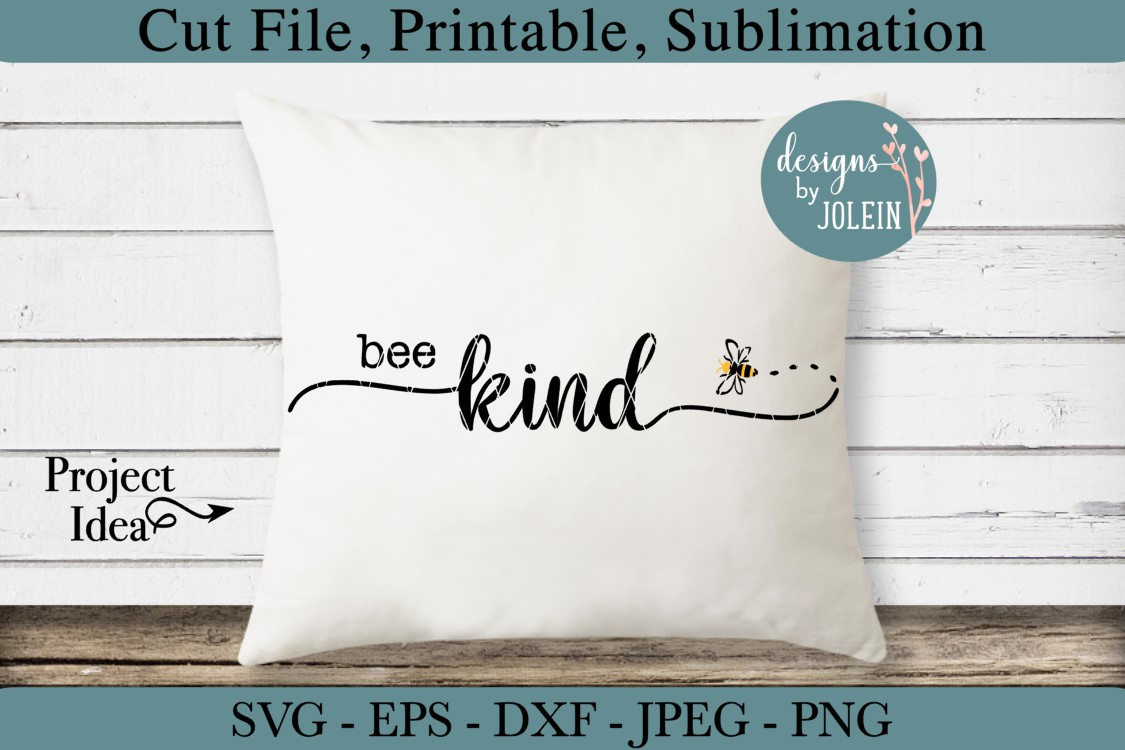 Bee Kind SVG, png, eps, DXF, sublimation example image 2