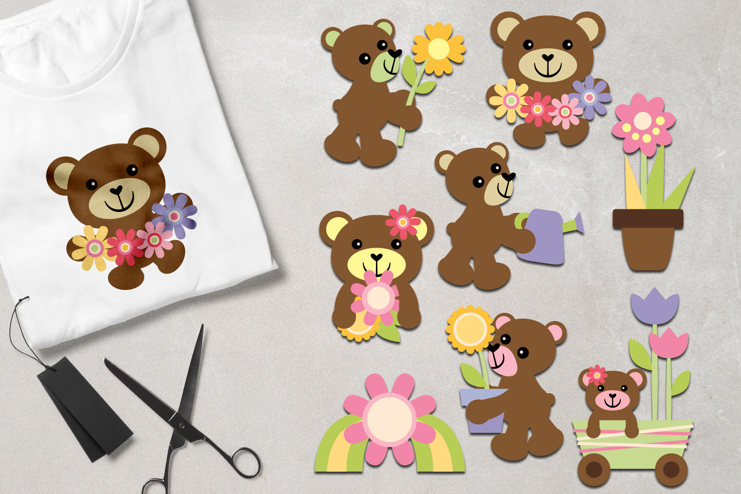 Teddy Bear Spring Graphics example image 1