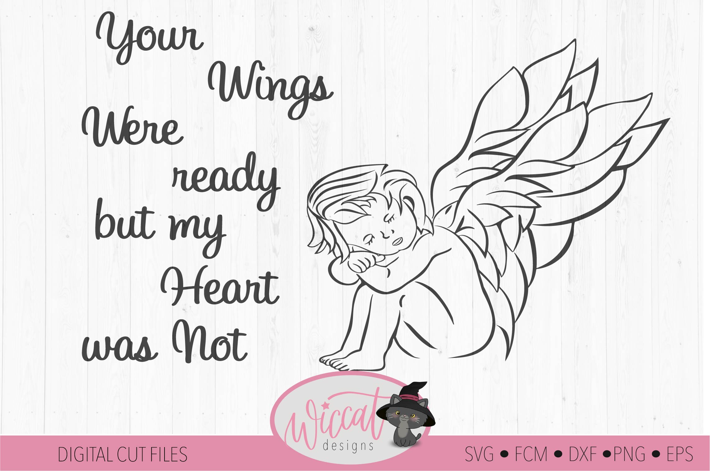 Angel svg, baby angel svg,, fcm file, scanncut ,wings svg example image 2