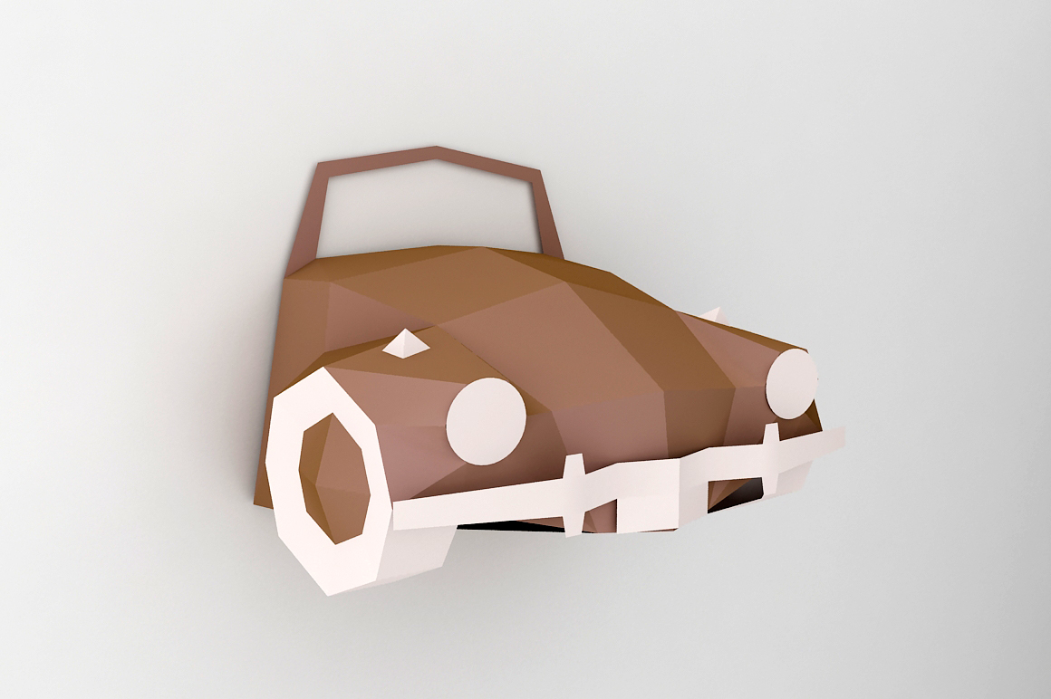 DIY Car front - 3d papercraft example image 1