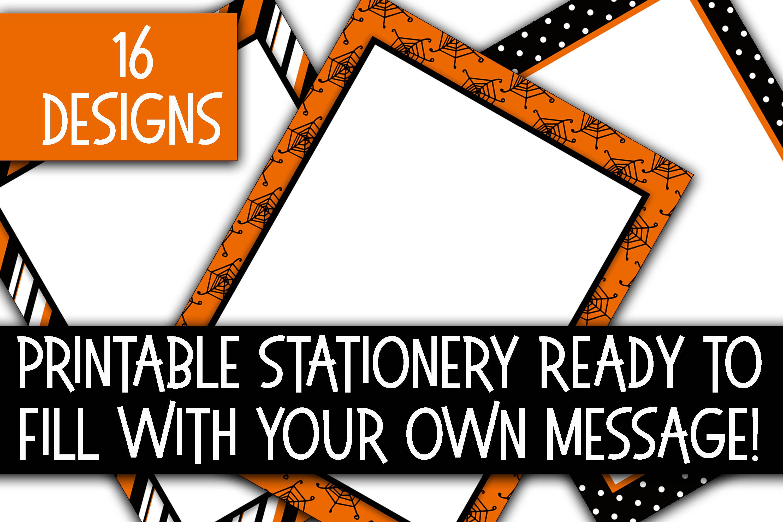 Halloween Stationery - Halloween Digital Paper example image 2