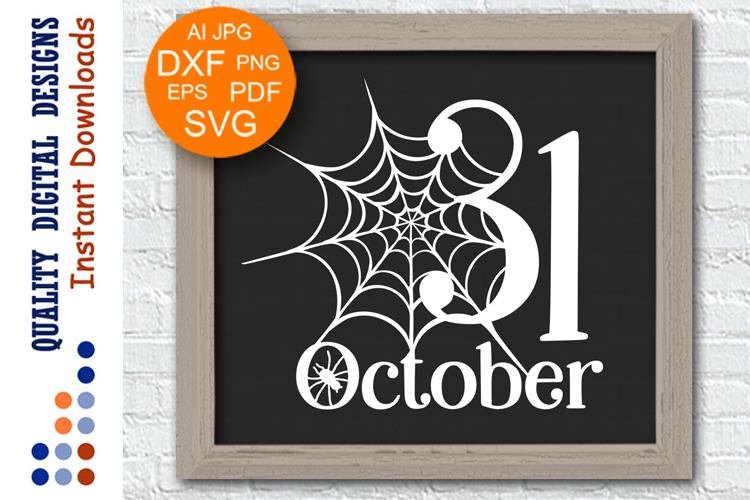 Halloween svg files for Cricut 31 october Spider web clipart example image 1