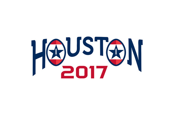American Football Houston 2017 Word Retro example image 1