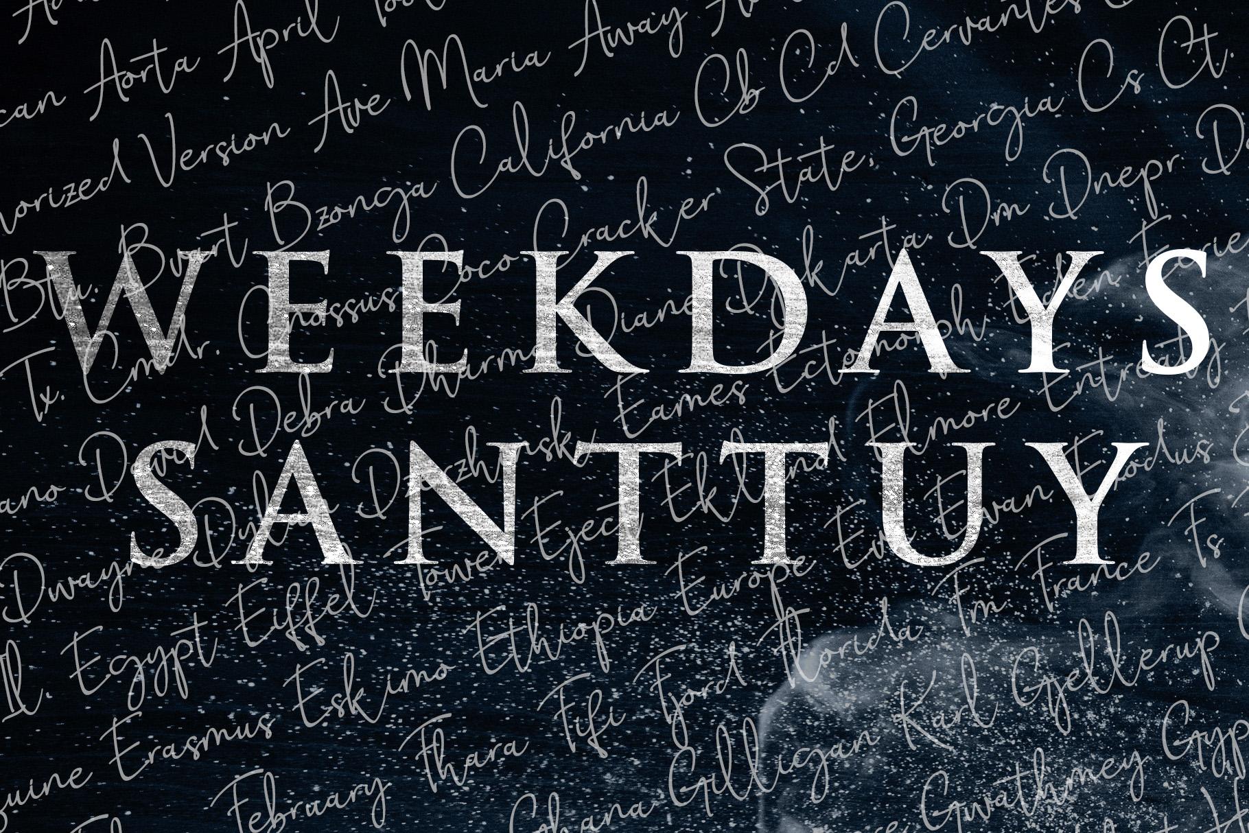 Weekdays Santtuy example image 2