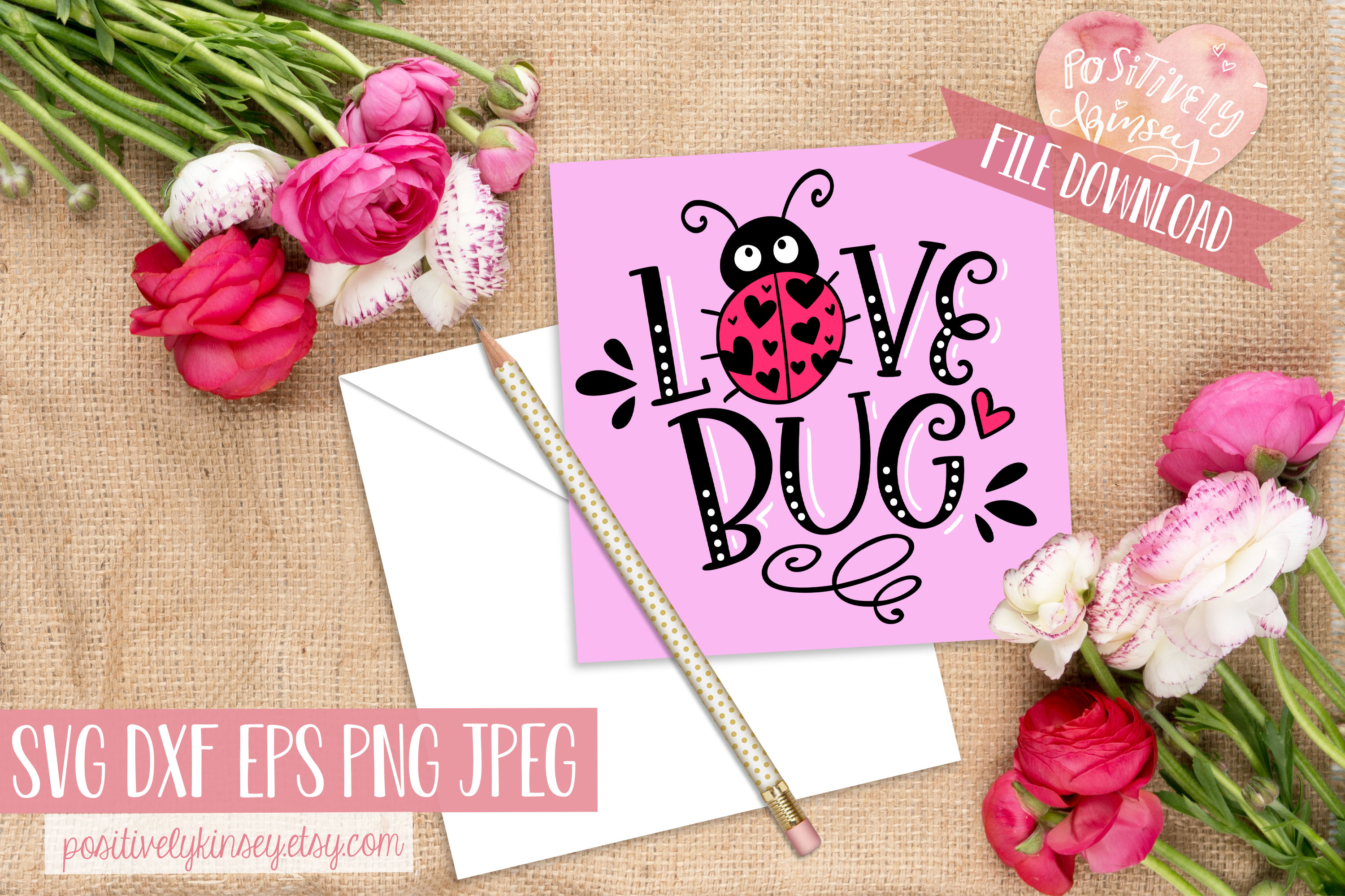 Love Bug SVG, Kids Valentine SVG for Baby & Toddler Shirts! example image 2