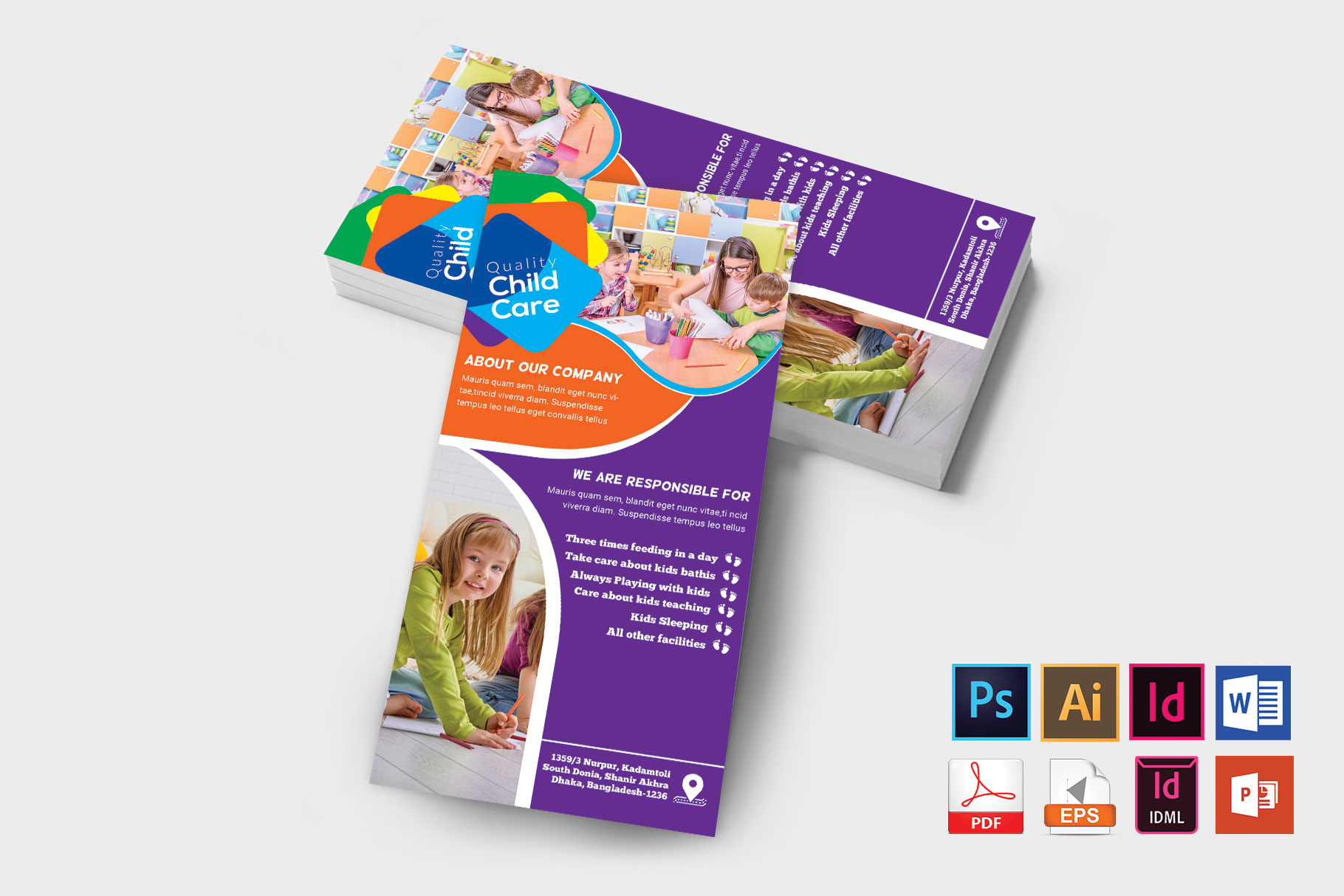 Rack Card   Baby Care DL Flyer Vol-01 example image 2
