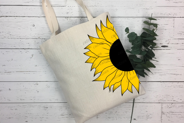 Sunflower SVG bundle   Floral bundle SVG example image 7