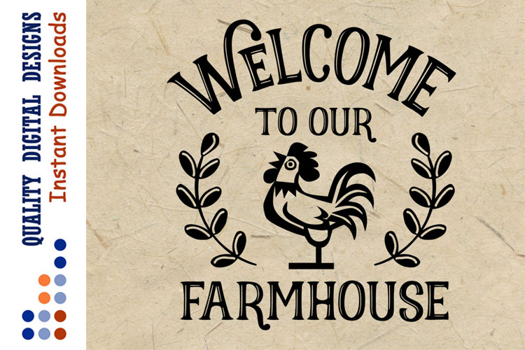 Welcome To Our Farmhouse Svg example image 1