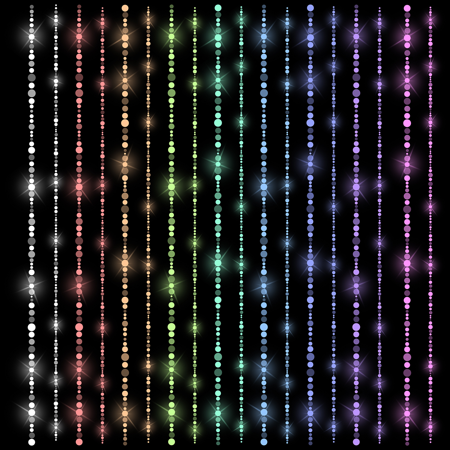 Fairy Lights Borders, Sparkle Rainbow Lines example image 2