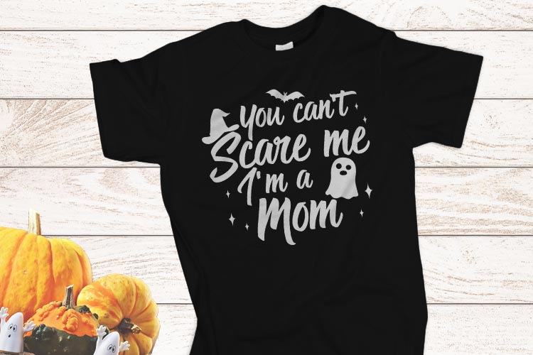 You can't scare me I am a Mom Halloween SVG example image 2