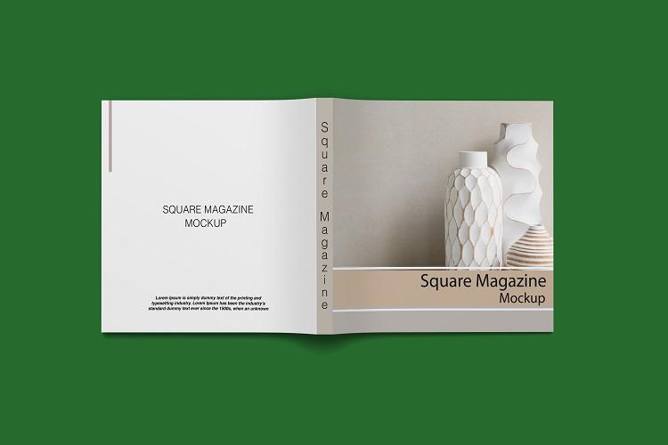Square Magazine Mockup example image 12