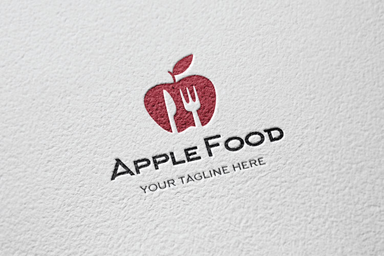 Food Apple Restaurant Logo example image 2
