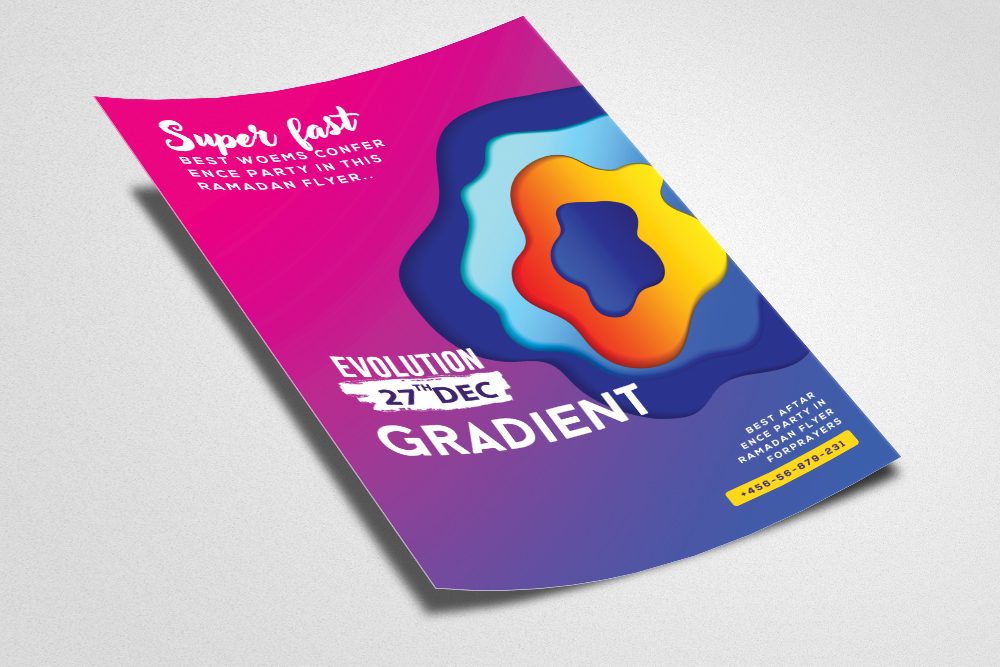 Gradient Electro Flyer Template example image 2