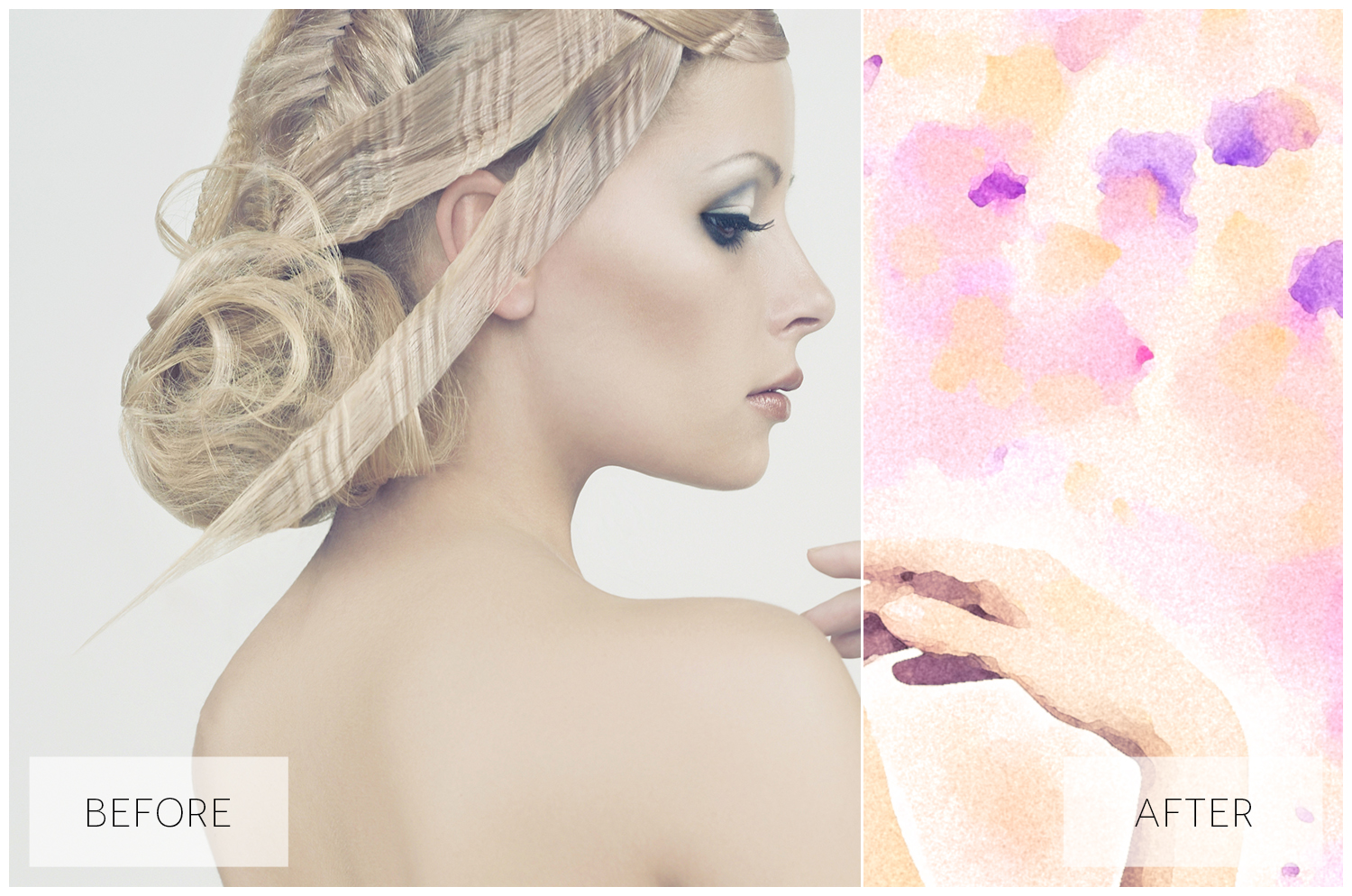 Lovely Watercolor Effect | Photoshop Actions example image 37