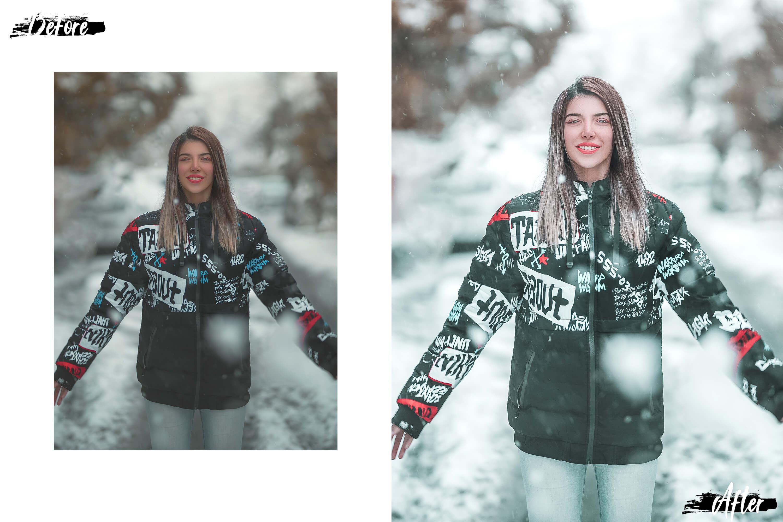 10 Winter Wonderland Desktop Lightroom Presets, ACR presets example image 4