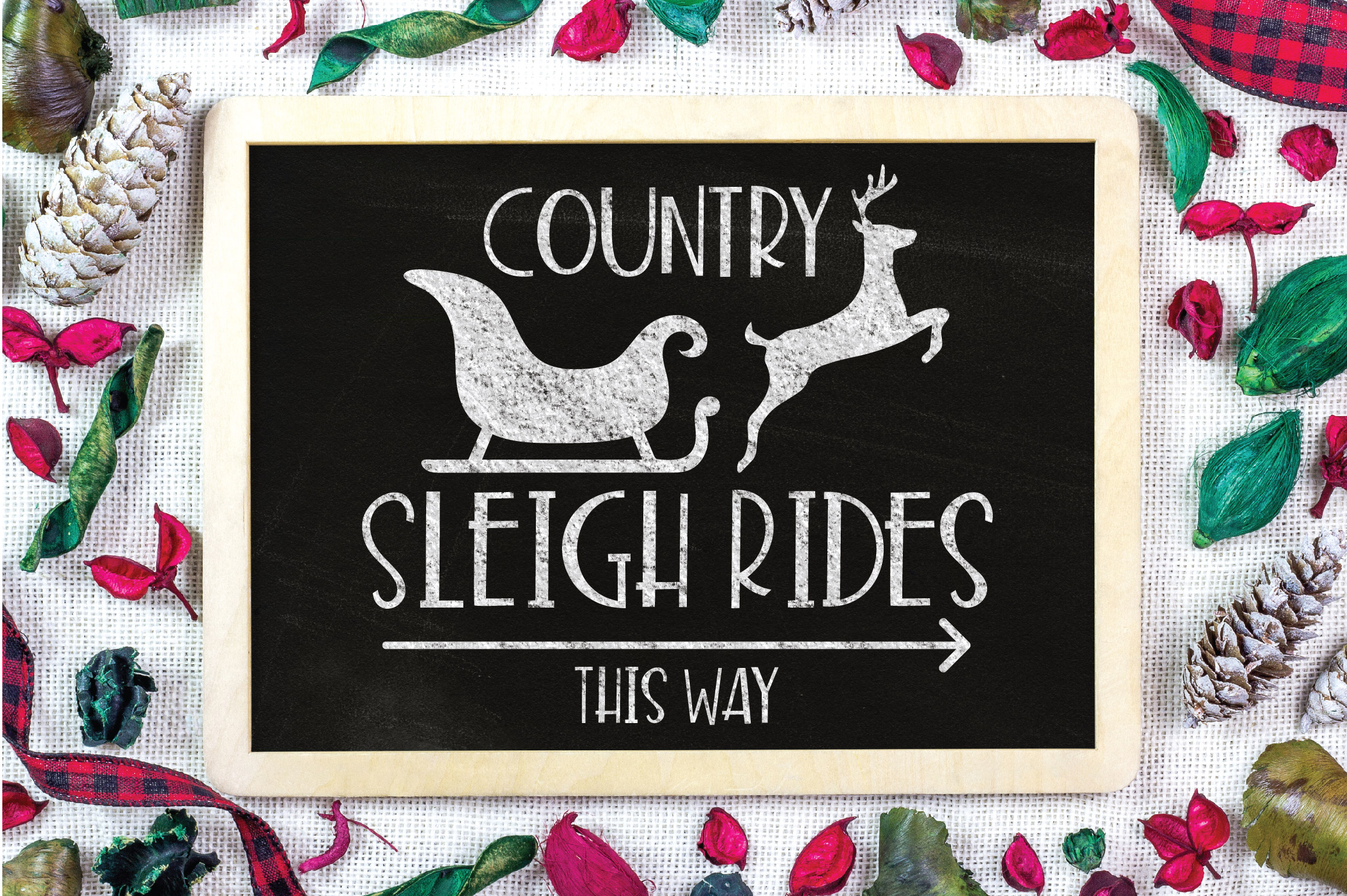 Christmas SVG Cut File - Sleigh Rides SVG DXF PNG EPS JPG example image 2