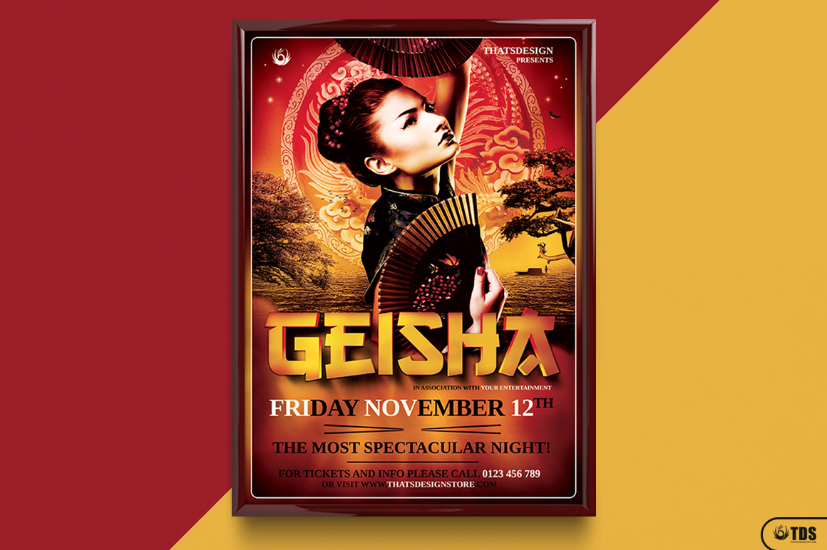 Geisha Night Flyer Template V3 example image 6