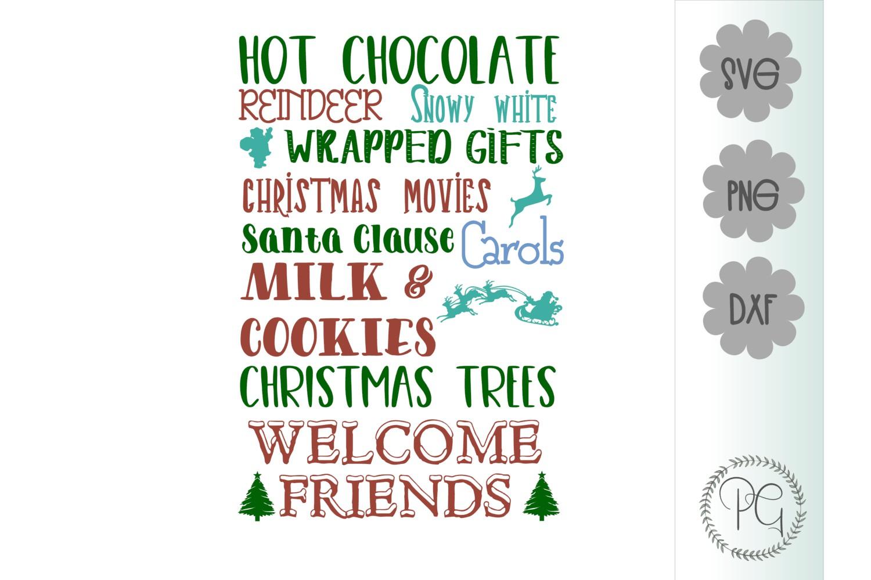 Christmas Subway Art SVG PNG JPG DXF example image 2